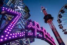 Rides Light The Night Sky At San Bernardino County Fair